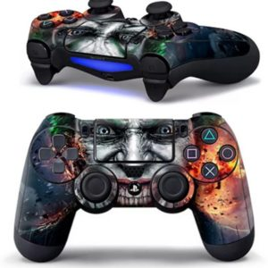 PS4 dualshock Controller PlayStation sticker skin | Joker + gratis Green skull LED sticker
