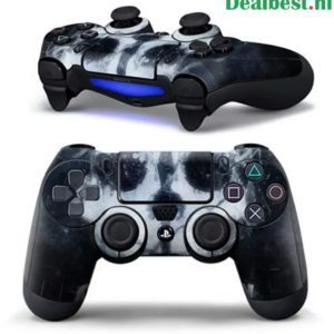 PS4 dualshock Controller PlayStation sticker skin | White Skull