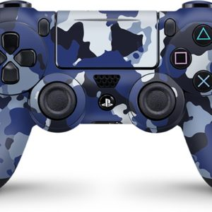 Playstation 4 Controller Skin Camouflage Blauw- PS4 Controller Sticker