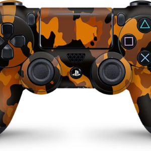 Playstation 4 Controller Skin Camouflage Oranje- PS4 Controller Sticker