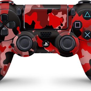 Playstation 4 Controller Skin Camouflage Rood- PS4 Controller Sticker