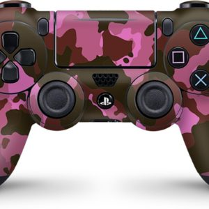 Playstation 4 Controller Skin Camouflage Roze- PS4 Controller Sticker
