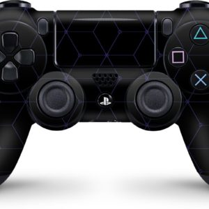 Playstation 4 Controller Skin Hexagon Blauw- PS4 Controller Sticker