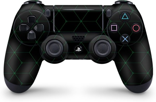 Playstation 4 Controller Skin Hexagon Groen- PS4 Controller Sticker