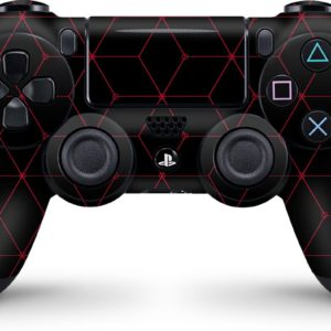 Playstation 4 Controller Skin Hexagon Rood- PS4 Controller Sticker