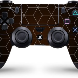 Playstation 4 Controller Skin Hexagon Wit- PS4 Controller Sticker