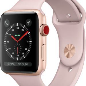 Apple Watch 3 GPS + Cell 42mm goud alu case pink s. sportband